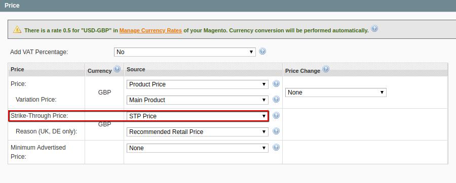 Strike Through Price Ebay Integration M2e Pro