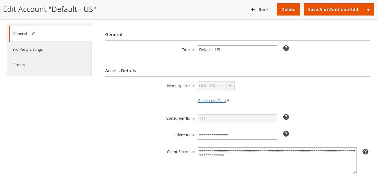 Account creation - Walmart Integration - M2E Pro